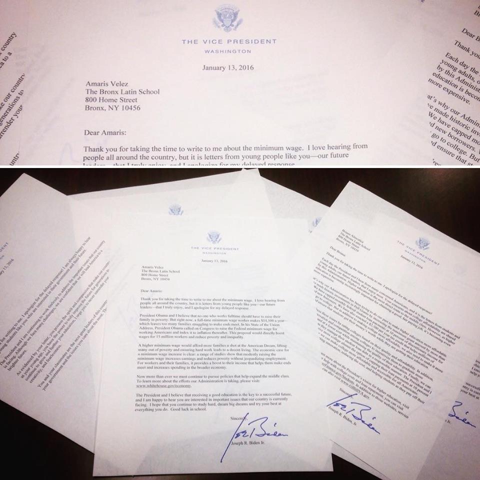 Joe Biden Letter